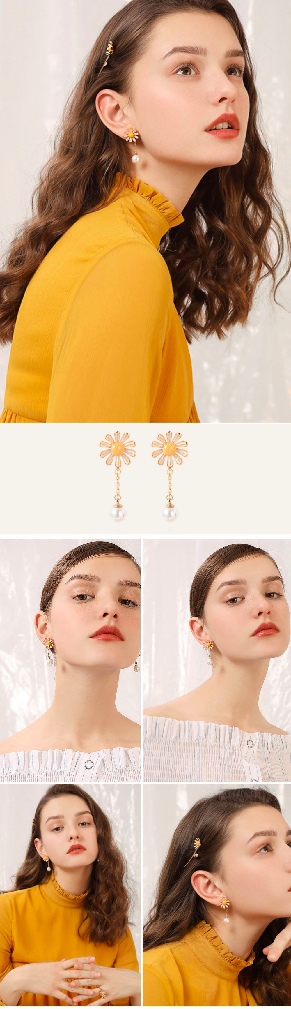 Daisy Pearl Earrings Day-To-Night Style