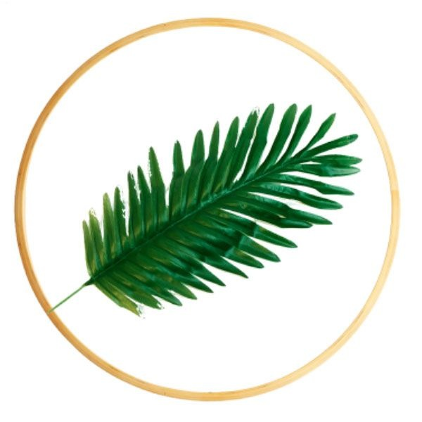product image for Leaf-on-Glass Round Wall Art