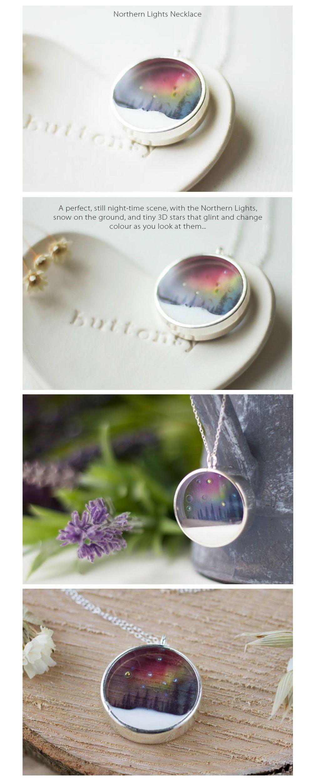 Northern Lights Necklace Aurora Jewellery