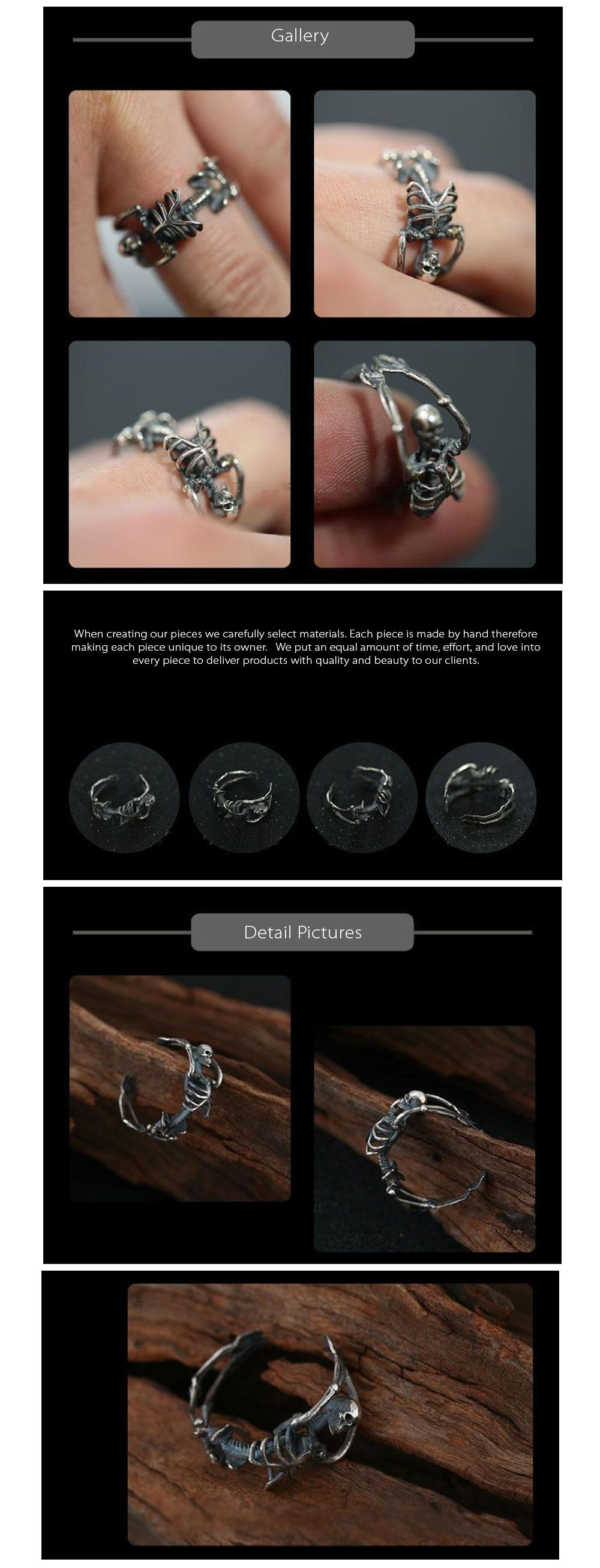 925 Silver Skeleton Ring The Stuff of Legends