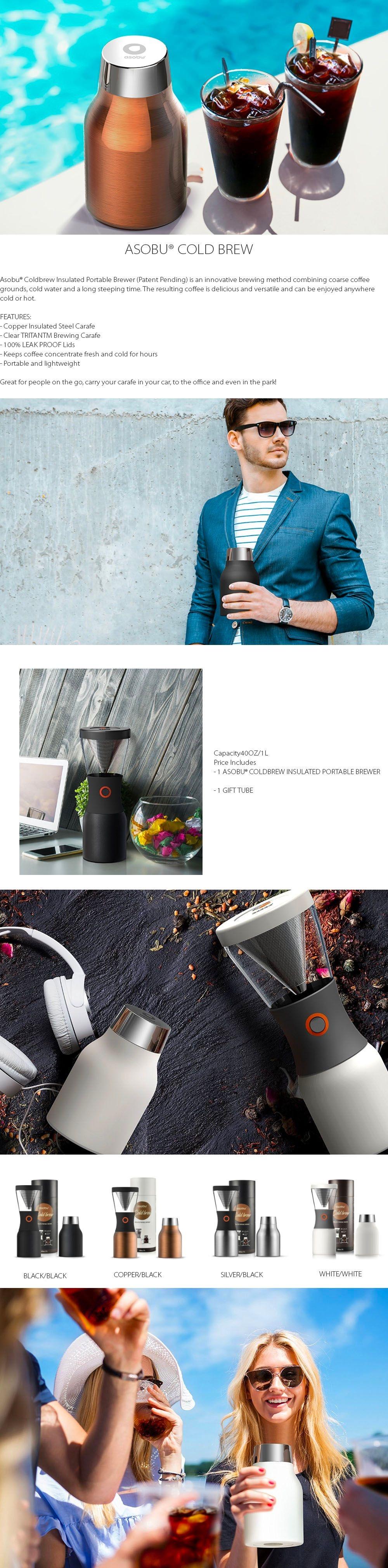 Asobu Coldbrew Coffee Maker Portable Brewer