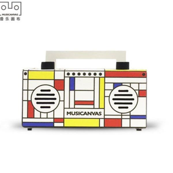 product image for Musicanvas Modern Art Mini Bluetooth Radio