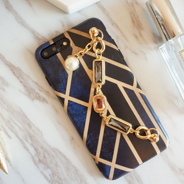 Blue & Gold iPhone Case