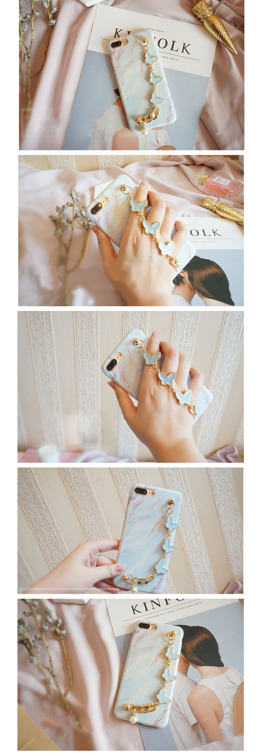 iPhone Case with Butterfly Chain Protection for iPhone
