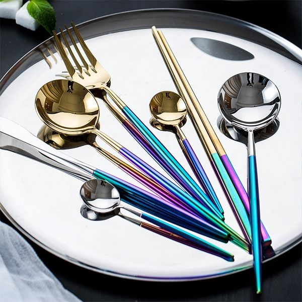 Rainbow Flatware Set