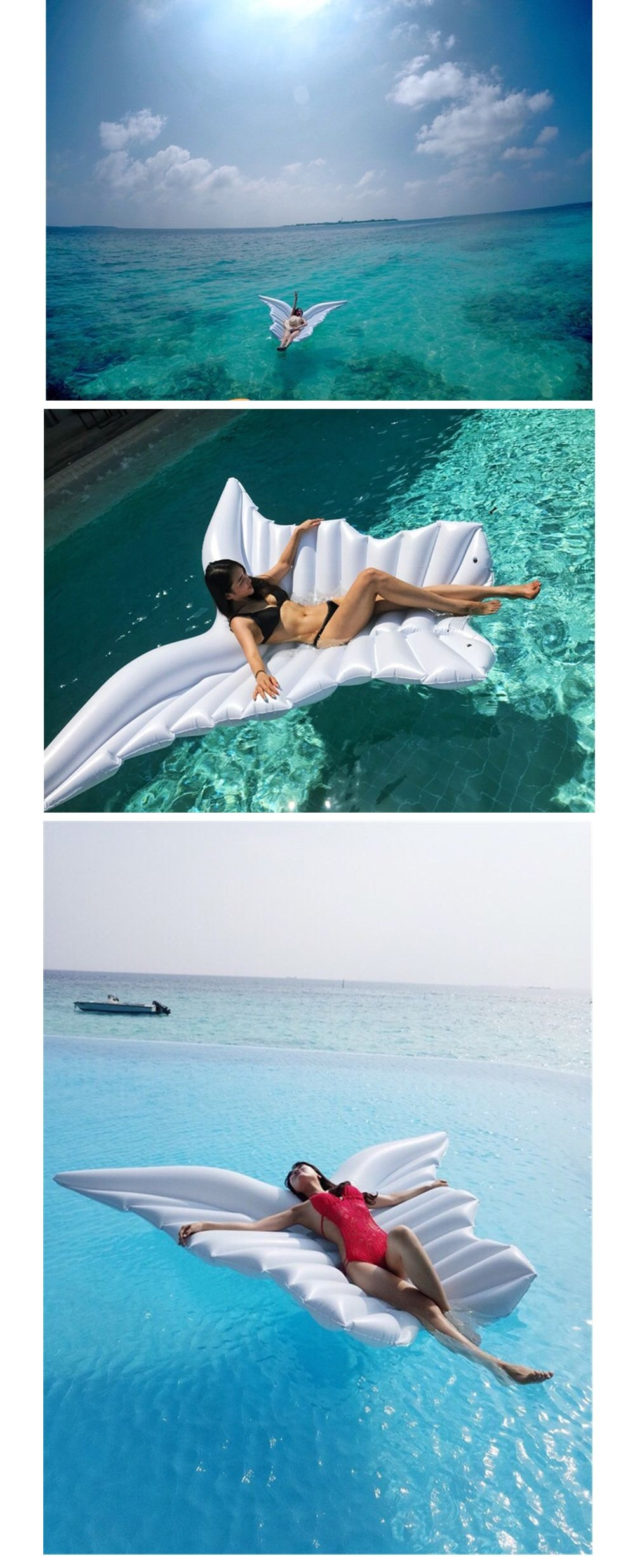 Giant Inflatable Angel Wing A Magical Pool Lounger