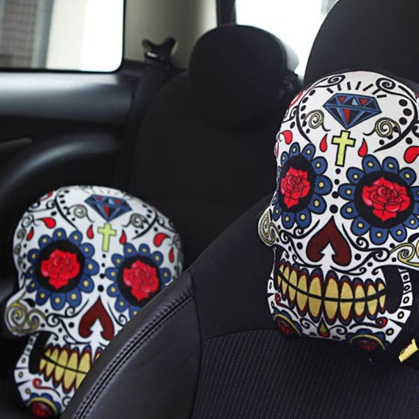 Product Thumbnail Image For Sugar Skull Car Pillow