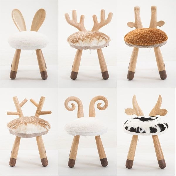 Little Animal Wooden Chair