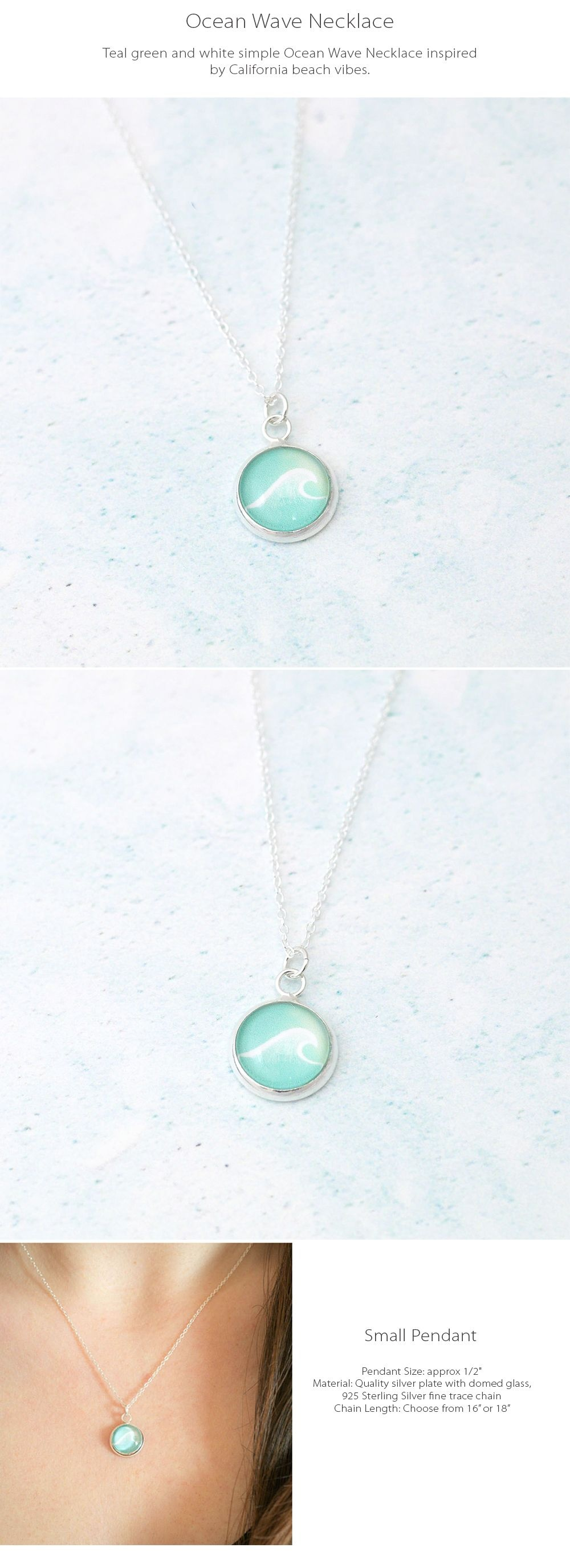 Ocean Wave Necklace Inspired by California Beach Vibes
