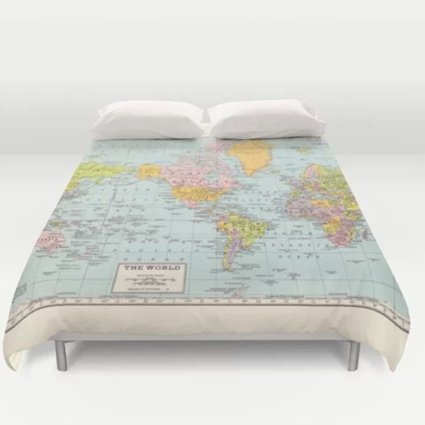 World map duvet cover apollobox product image for world map duvet cover gumiabroncs Gallery