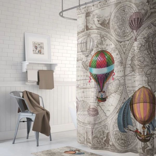 Attirant ... Product Thumbnail Image For Hot Air Balloon Shower Curtain ...