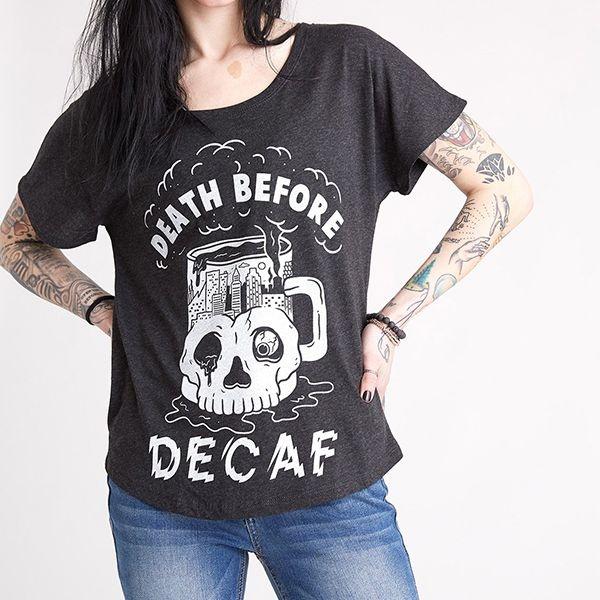 Death Before Decaf Tee