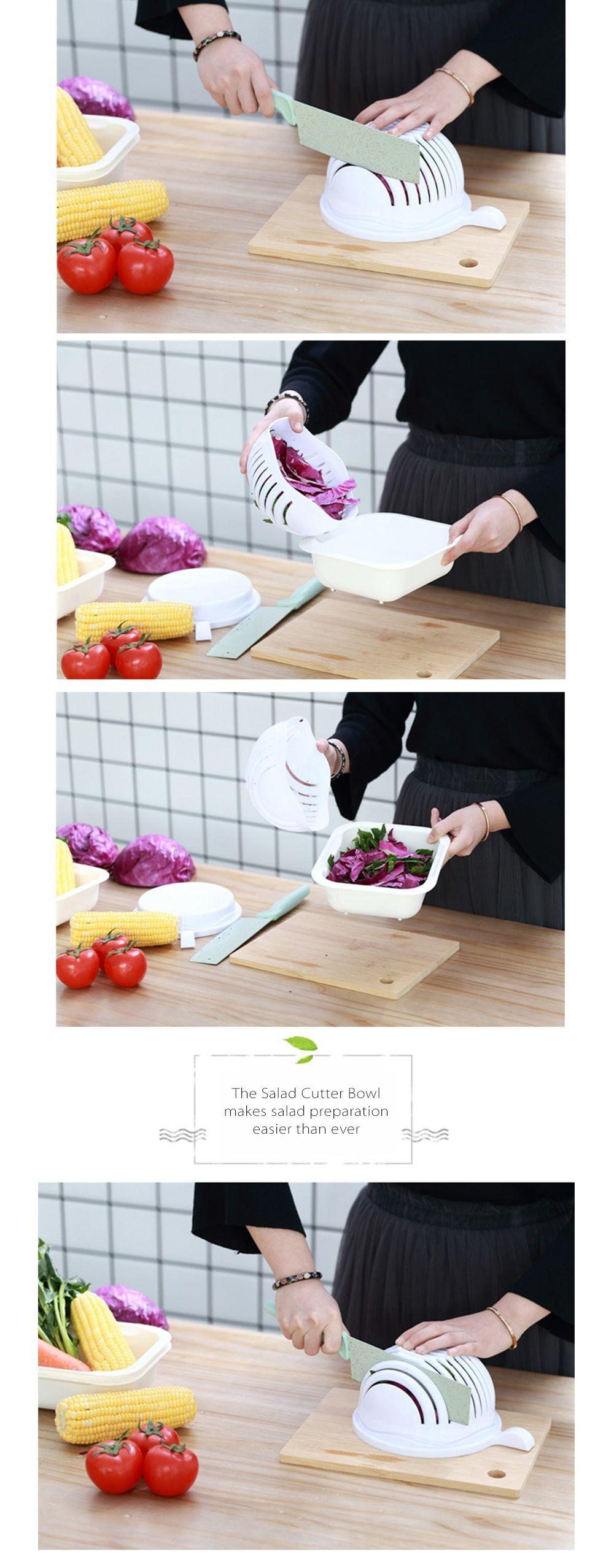 Salad Cutter Bowl 60 Second Salad Maker