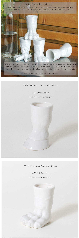 Wild Side Shot Glass Trophy Barware