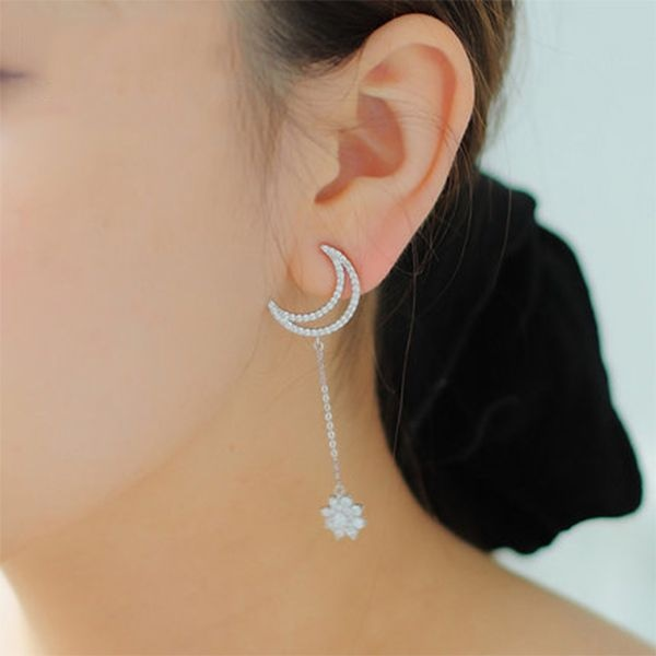 product thumbnail image for Moon Star Drop Earrings