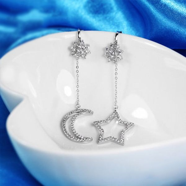 product image for Moon Star Drop Earrings