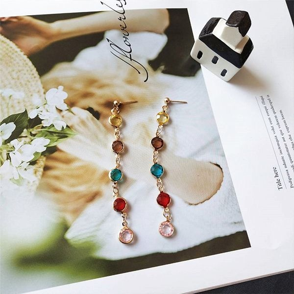 product image for Rainbow Crystal Drop Earrings