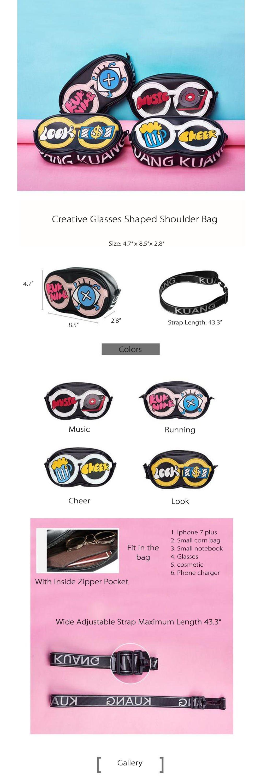 Creative Glasses Shoulder Bag Novelty Bag