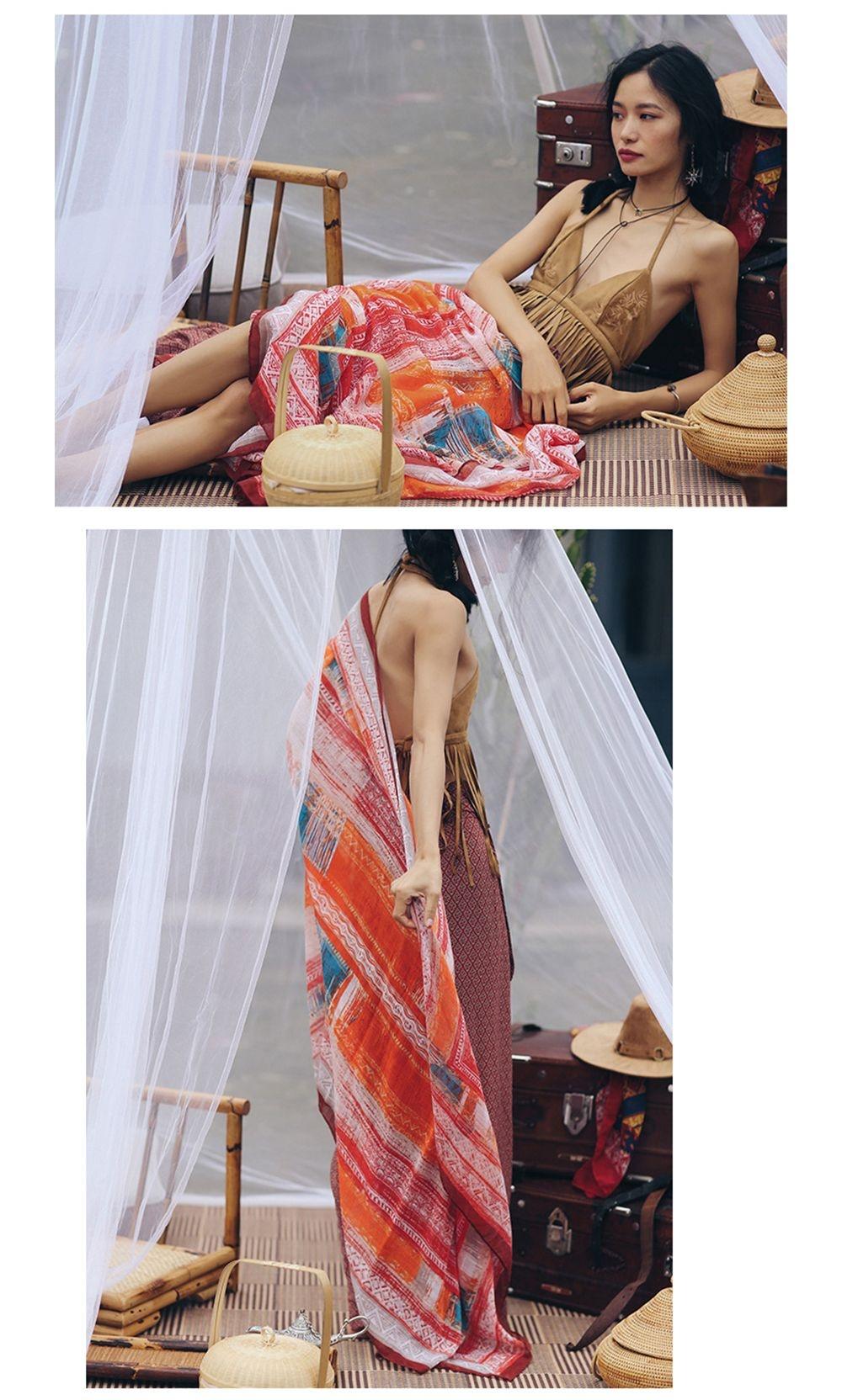 Seaside Trendy  Shawl Boho Style