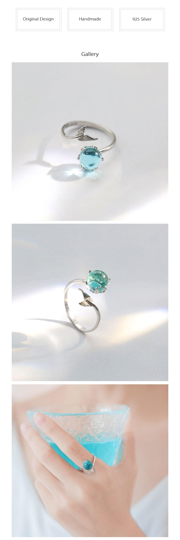 s925 Sterling Silver Mermaid Bubble Rings Mermaid Lovers