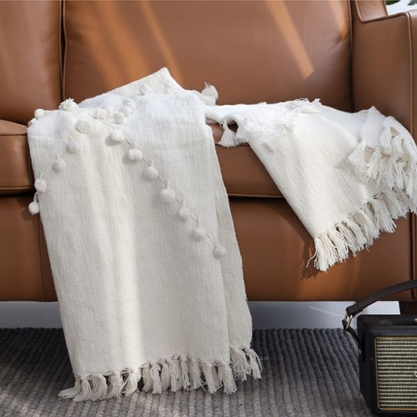 Decorative Fringe Throw Blanket