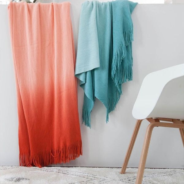 product image for Ombre Throw Blanket with Fringe