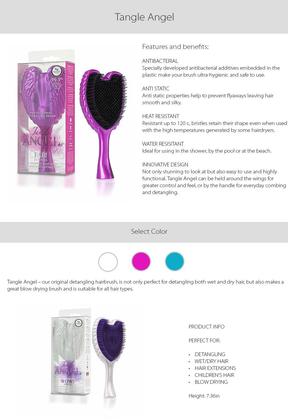 Angel Tangle Hairbrush Detangle Your Hair