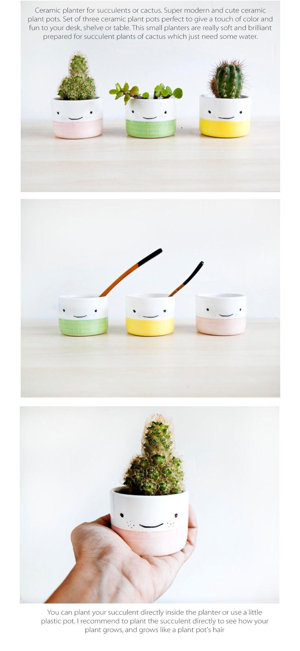 Face Plant Pots Set of 3