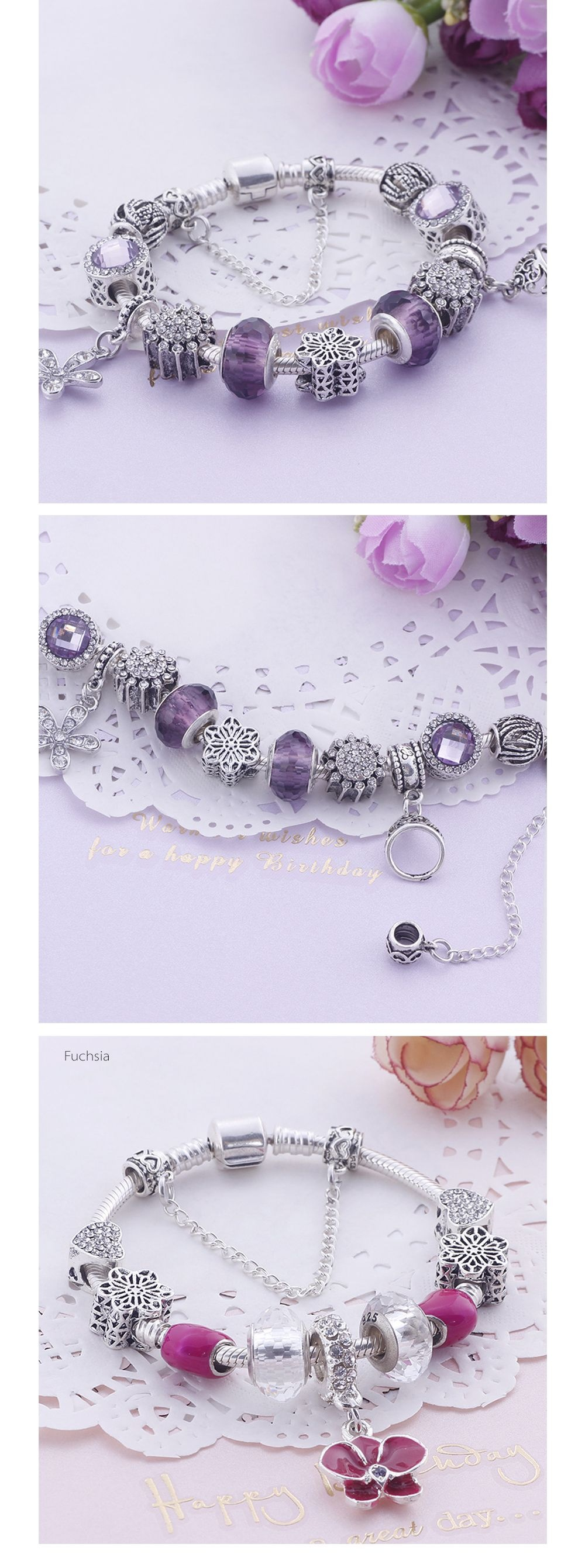 Princess Glass Beads Bracelet Creative Bracelet