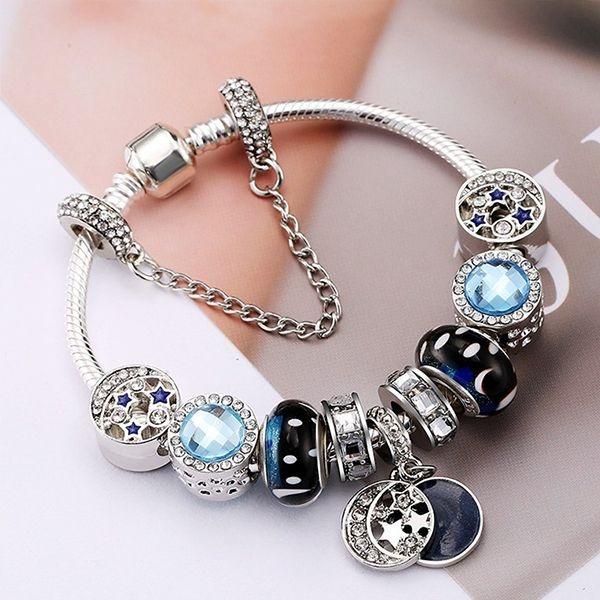 product image for Midnight Blue Beaded Bracelet