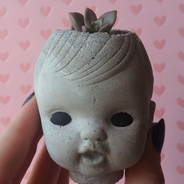 product image for Baby Doll Head Planter