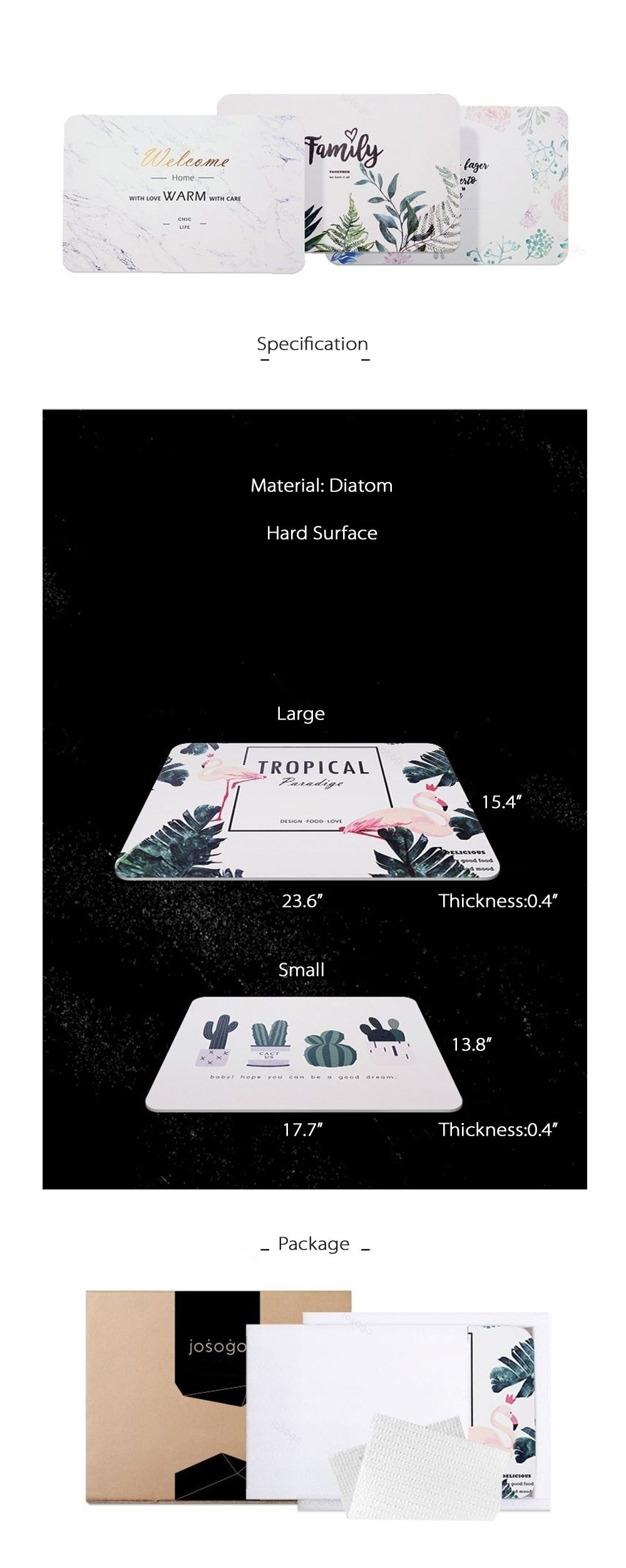 Plant Floor Mat Let's Stay Home