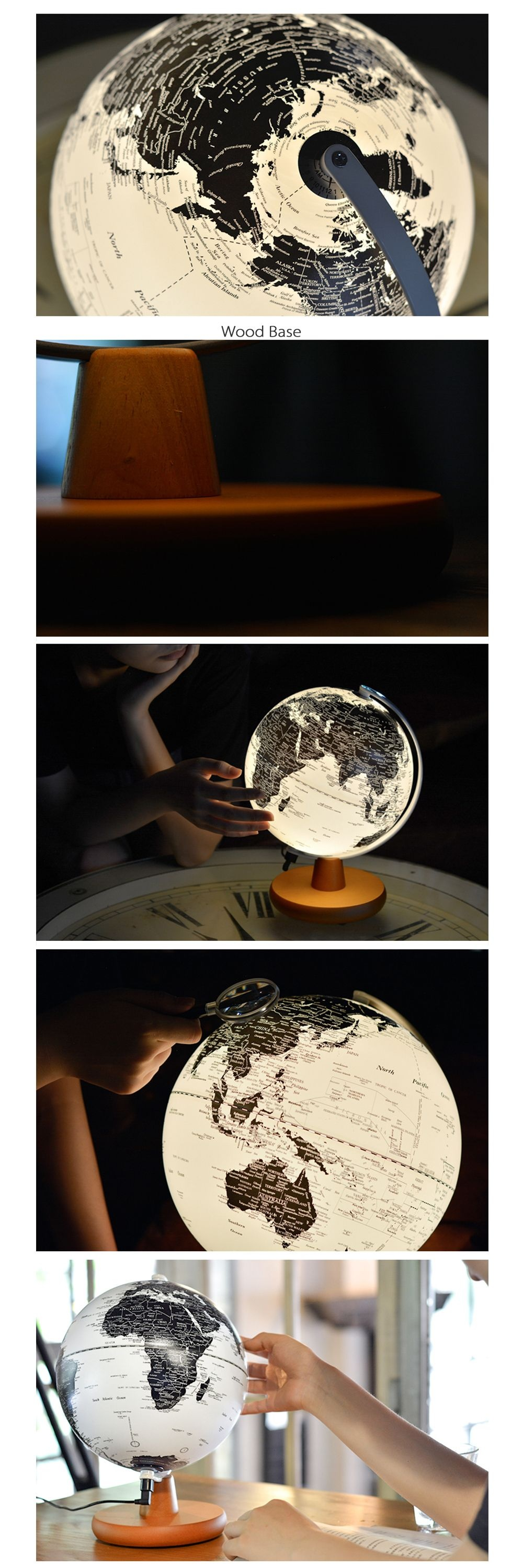 Illuminated Constellation World Globe 3-in-1 Globe, Constellation Map & Nightlight