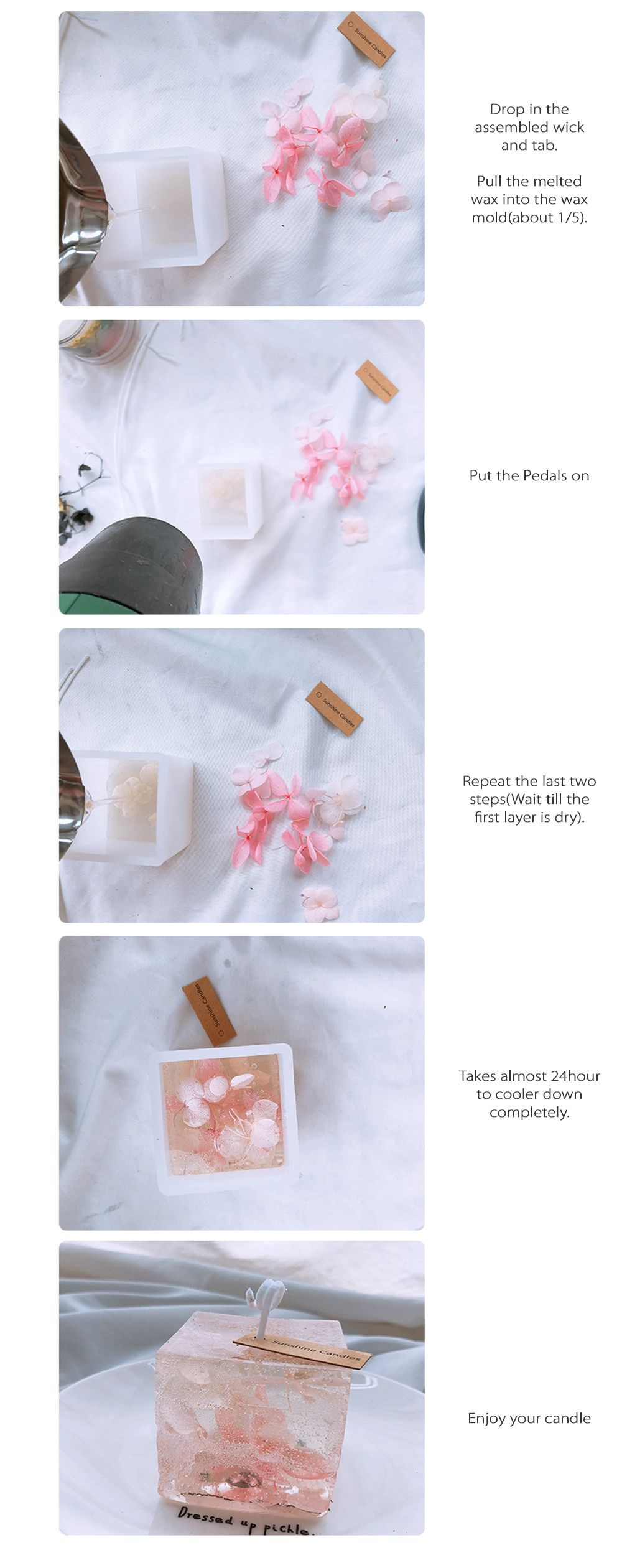 Handmade DIY Scented Crystal Candle Home Decor Candle