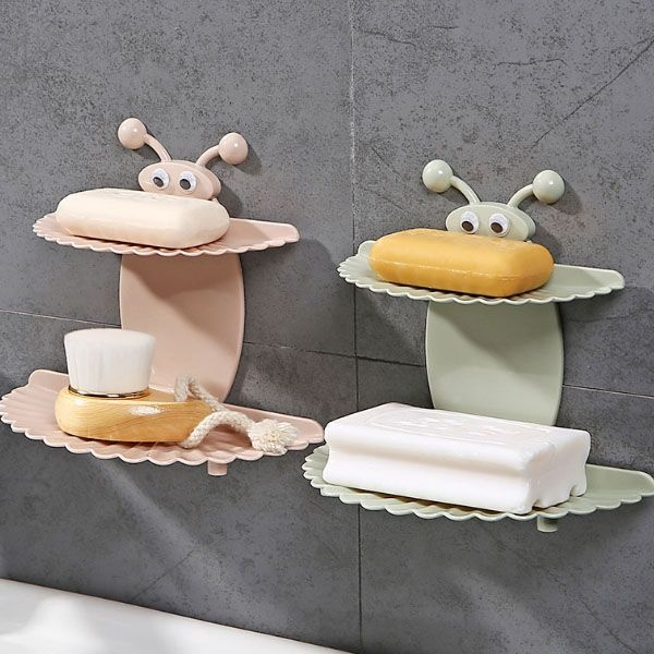 Butterfly SelfAdhesive Soap Holder ApolloBox - Ceramic soap dish adhesive