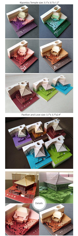 Omoshiroi Block Kiyomizu Temple Note Paper Decorate Your Desk Top