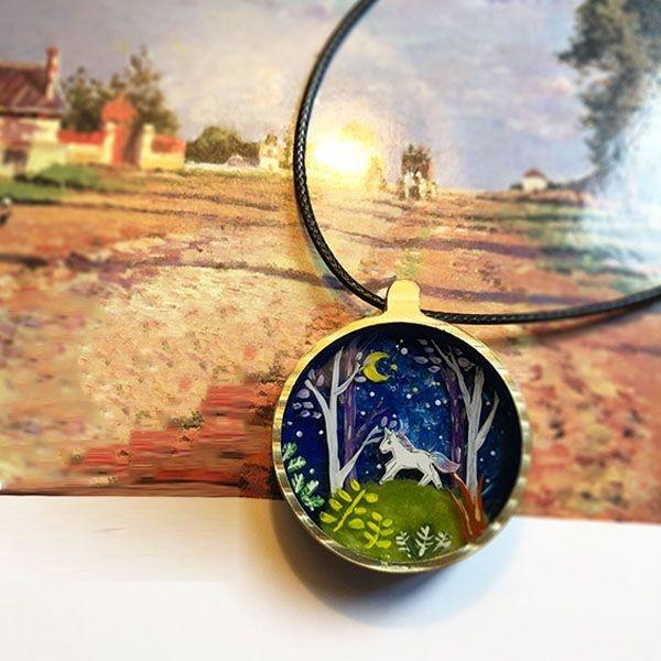 product image for Unicorn Cabochon Necklace