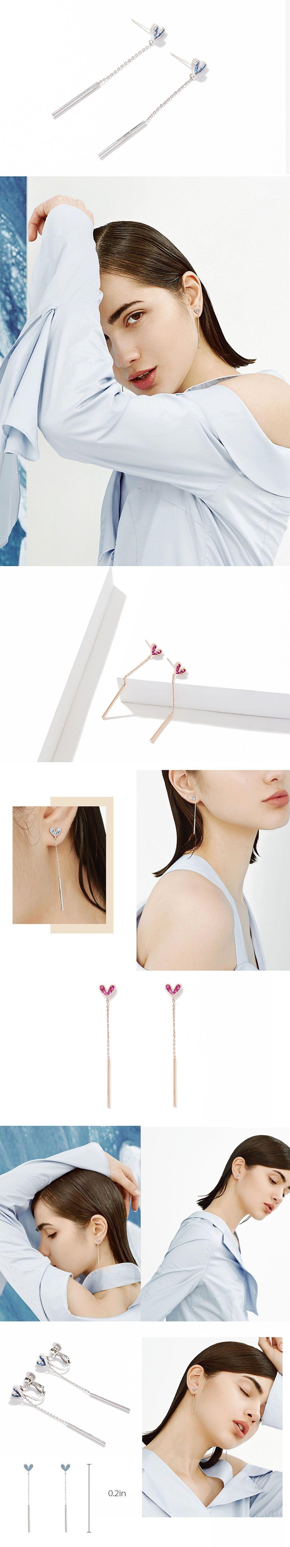 Heart Earrings Eye-Catching Design
