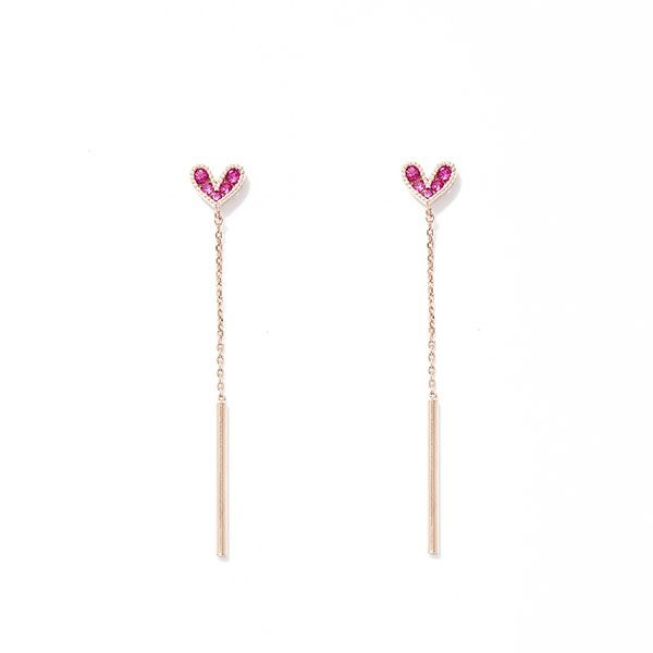 product image for Heart Chain Drop Earrings
