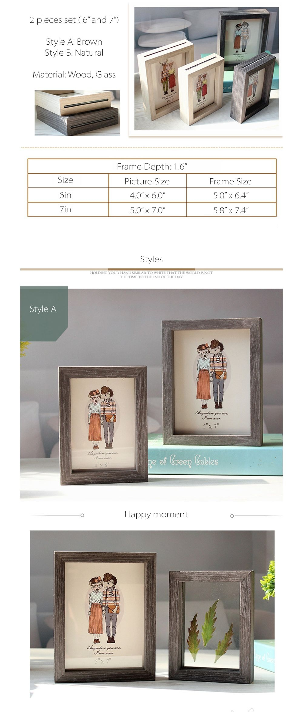 Double-Sided Photo Frames - ApolloBox