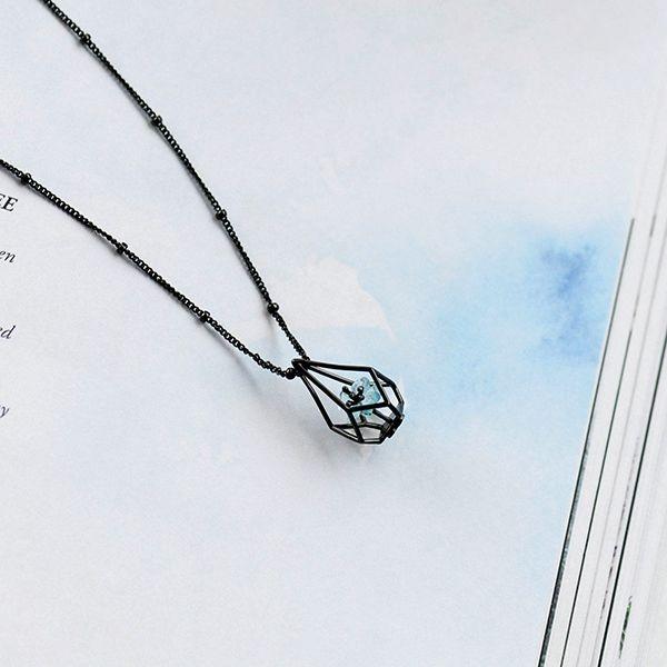 product image for Blue Flower Terrarium Necklace
