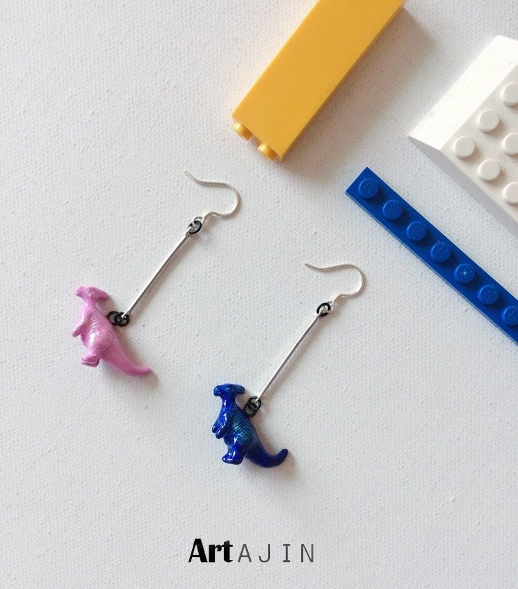 Dinosaur Earrings Paleo Personality