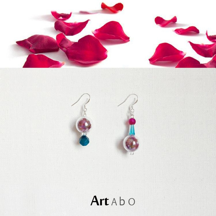 0060 rose earrings