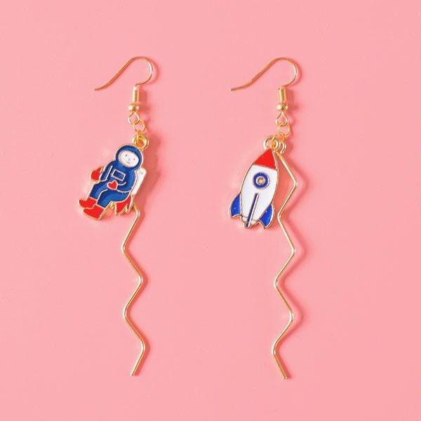 Astronaut Rocket Earrings