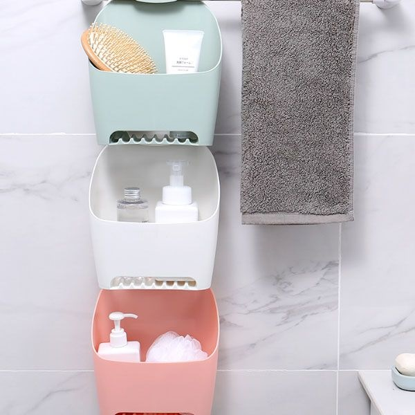 Bathroom Cubby Shelf: Self-Hook Bathroom Storage Cubby