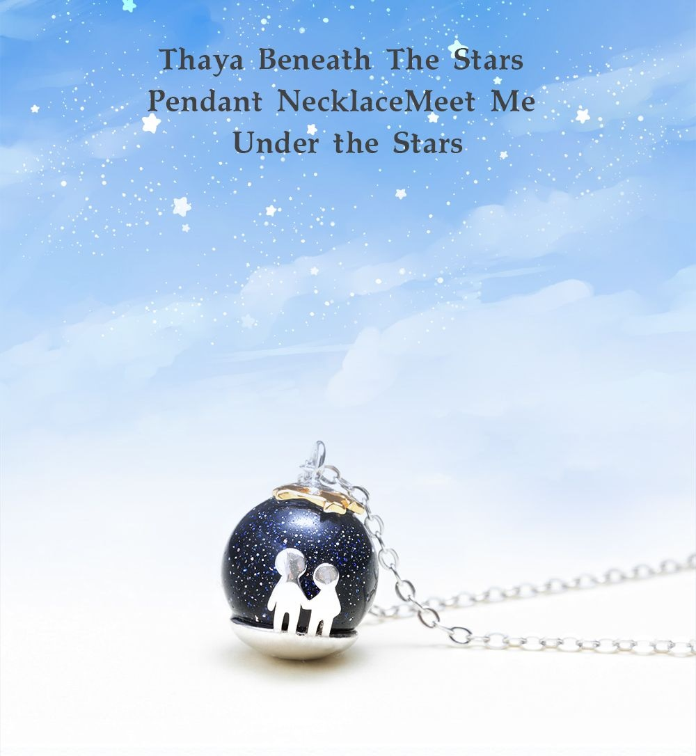 Thaya Beneath The Stars Pendant Necklace Meet Me Under the Stars