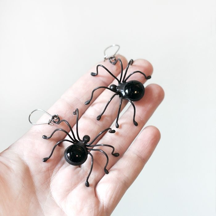 product image for Black Spider Earrings