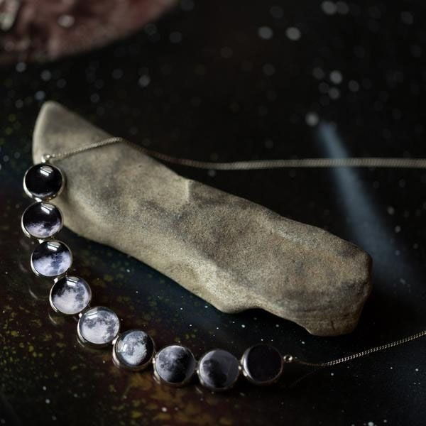 product thumbnail image for Curved Moon Phase Necklace