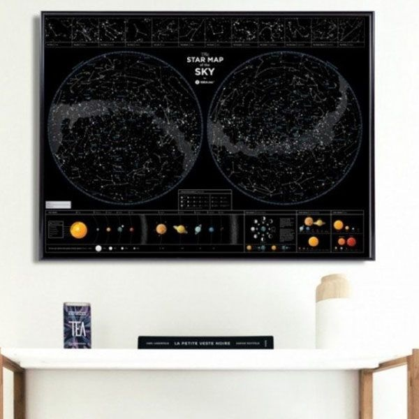 product image for Double Hemisphere Star Map
