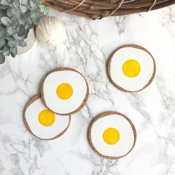 Egg Cork Coasters